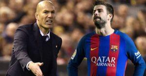 Tin nhanh Bóng Đá - Pique chọc ngoáy Zidane sau trận Real hòa Sevilla