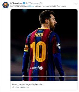 Bản tin bóng đá - Messi rời Barca vì lý do khác